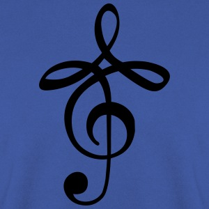 modern music clef Tee shirts - Sweat-shirt Homme
