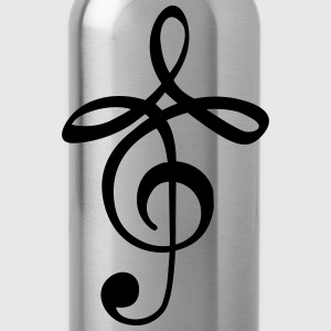 modern music clef T-Shirts - Water Bottle
