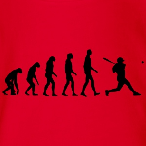 baseball evolution T-Shirts - Baby Bio-Kurzarm-Body