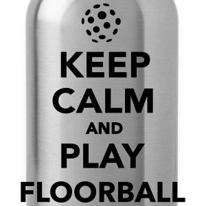 Keep calm and play Floorball T-Shirts - Trinkflasche