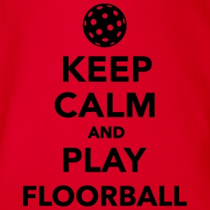 Keep calm and play Floorball T-Shirts - Baby Bio-Kurzarm-Body