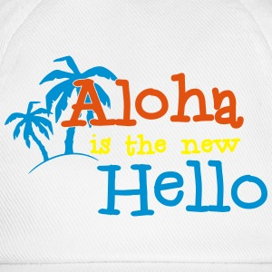 Aloha is the new Hello 3c Flasker og krus - Baseballkasket