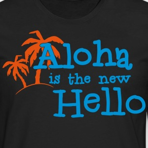 Aloha is the new hello! 2c Kookschorten - Mannen Premium shirt met lange mouwen