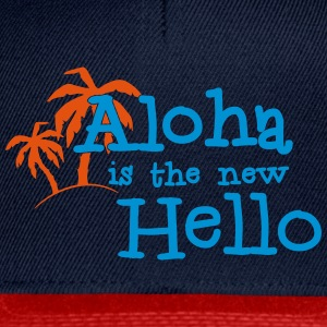 Aloha is the new hello! 2c Camisetas - Gorra Snapback