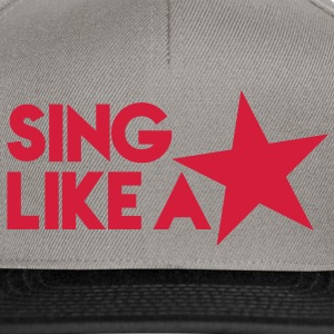 SING like a STAR! celebrity cute singer design T-Shirts - Snapback Cap