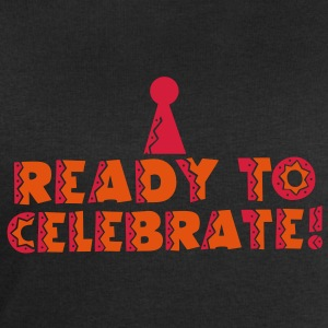 READY TO CELEBRATE! with party hat! T-Shirts - Men's Sweatshirt by Stanley & Stella