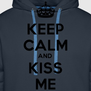 keep_calm_and_kiss_me Koszulki - Bluza męska Premium z kapturem