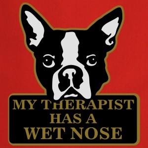 My therapist has a wet nose T-shirts - Keukenschort