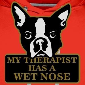 My therapist has a wet nose T-shirts - Mannen Premium hoodie