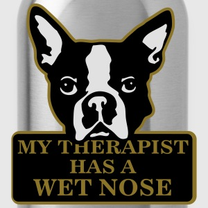 My therapist has a wet nose T-Shirts - Water Bottle