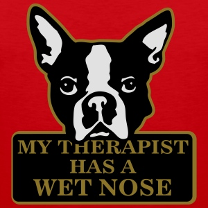 My therapist has a wet nose T-shirts - Mannen Premium tank top