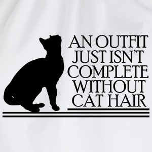 An outfit just isn't complete without cat hair T-Shirts - Drawstring Bag