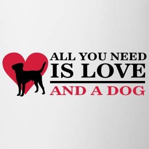 All you need is love and a dog T-shirts - Kop/krus