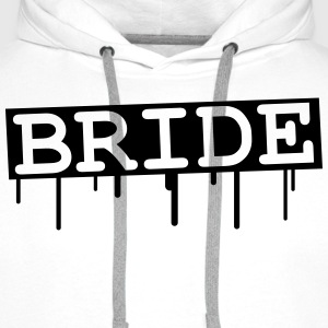 Bride Graffiti Design T-skjorter - Premium hettegenser for menn