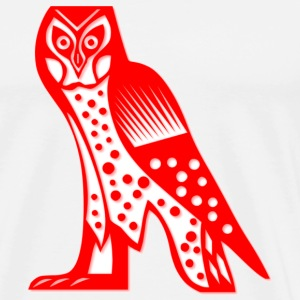 White/red owl1 Long sleeve shirts - Men's Premium T-Shirt
