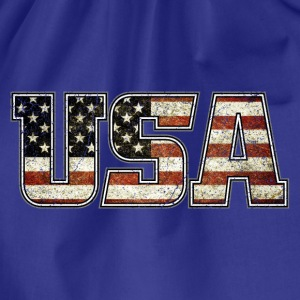USA Typo Flag (oldstyle) - Turnbeutel