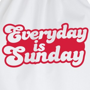 everyday is sunday T-Shirts - Drawstring Bag