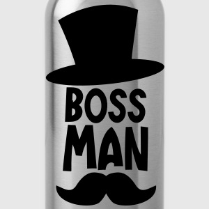 boss man with a top hat and a ye olde moustache T-Shirts - Water Bottle