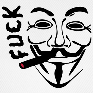 anonymous masque mask cigare fumer fuck1 Tee shirts - Casquette classique