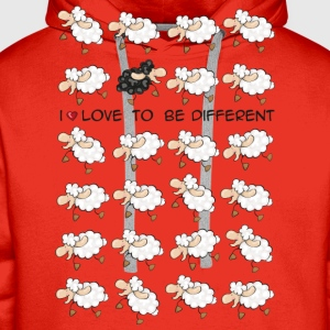 I love to be different T-Shirts - Men's Premium Hoodie