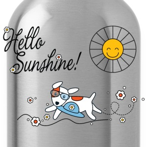 Hello sunshine, hello sping and summer kids Kids' Shirts - Water Bottle
