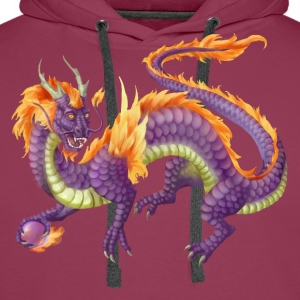 purple chinese dragon - Men's Premium Hoodie