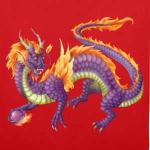 purple chinese dragon - Tote Bag