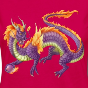 purple chinese dragon - Women's Premium Longsleeve Shirt