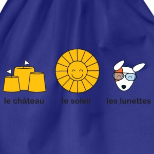 French course for sunny summer beach weather Kids' Shirts - Drawstring Bag
