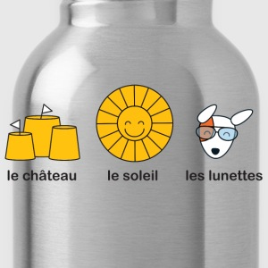 French course for sunny summer beach weather Kids' Shirts - Water Bottle