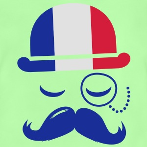 France fashionable retro iconic gentleman with flag | sports | olympics | football | Championship | Moustache Kids' Shirts - Baby T-Shirt