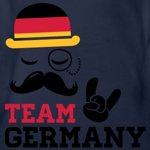 Germany team fashionable championship winner gold medal olympics football flag moustache Kids' Shirts - Organic Short-sleeved Baby Bodysuit