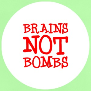Brains NOT Bombs, Against War, Gegen Krieg, War, Bombs, Krieg, Protest, Demo, Anti, Punk, www.eushirt.com Kinder T-Shirts - Baby T-Shirt