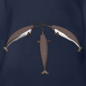 Narwhal Kids' Shirts - Organic Short-sleeved Baby Bodysuit