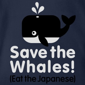 Save the Whales! Eat the Japanese Kinder shirts - Baby bio-rompertje met korte mouwen