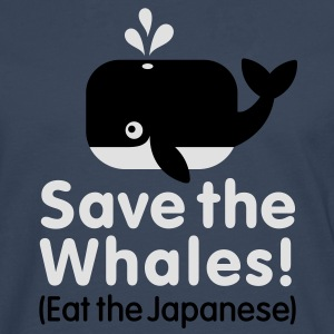 Save the Whales! Eat the Japanese Kinder shirts - Mannen Premium shirt met lange mouwen