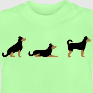 Seat space stand dog Kids' Shirts - Baby T-Shirt