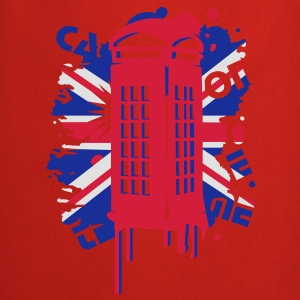 red telephone box with a British flag Kids' Shirts - Cooking Apron