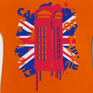 red telephone box with a British flag Kids' Shirts - Baby T-Shirt