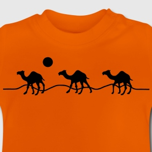 3 camels in the desert with sun Shirts - Baby T-Shirt