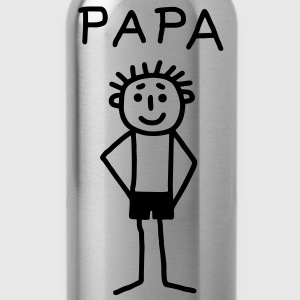 PAPA - stick figure Shirts - Water Bottle