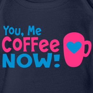 you me coffee now Kids' Shirts - Organic Short-sleeved Baby Bodysuit