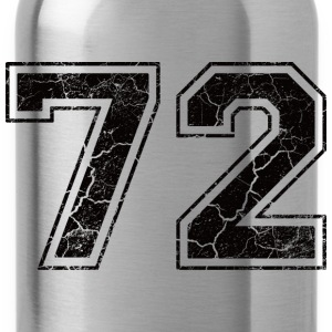 Number 72 in the grunge look Kids' Shirts - Water Bottle