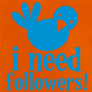 Bird blue i need followers! @ internet social Shirts - Baby T-Shirt