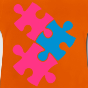 three jigsaw pieces fitting together 3 Shirts - Baby T-Shirt