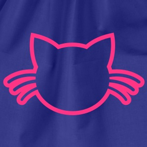 CUTE cat with whiskers outline Shirts - Drawstring Bag