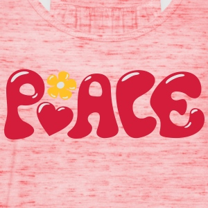 Peace - Flowerpower Love Happiness Shirts - Women's Tank Top by Bella