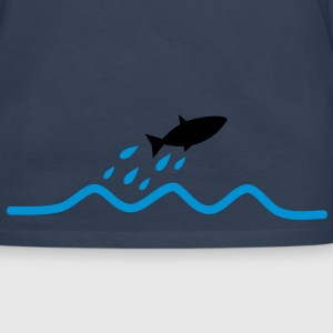 flying_fish T-shirts - Herre premium T-shirt med lange ærmer