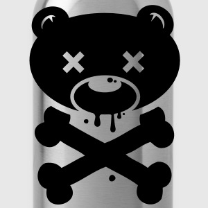 Scary Bear monster ghost Halloween skull zombie Shirts - Water Bottle