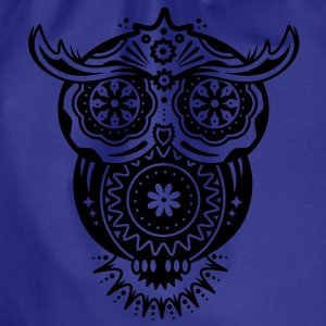 Owl in the style of Sugar Skulls Shirts - Drawstring Bag